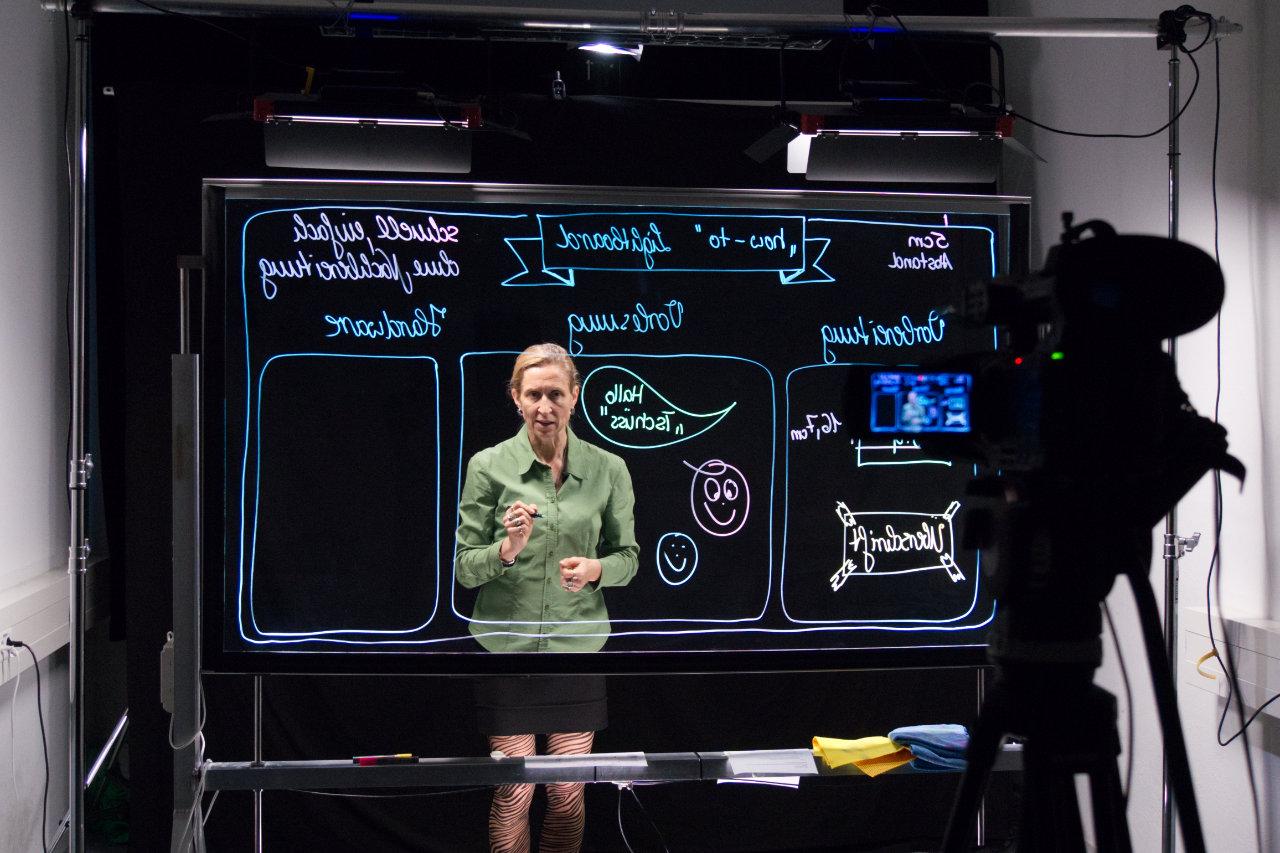 Anja Pfennig beim Videodreh